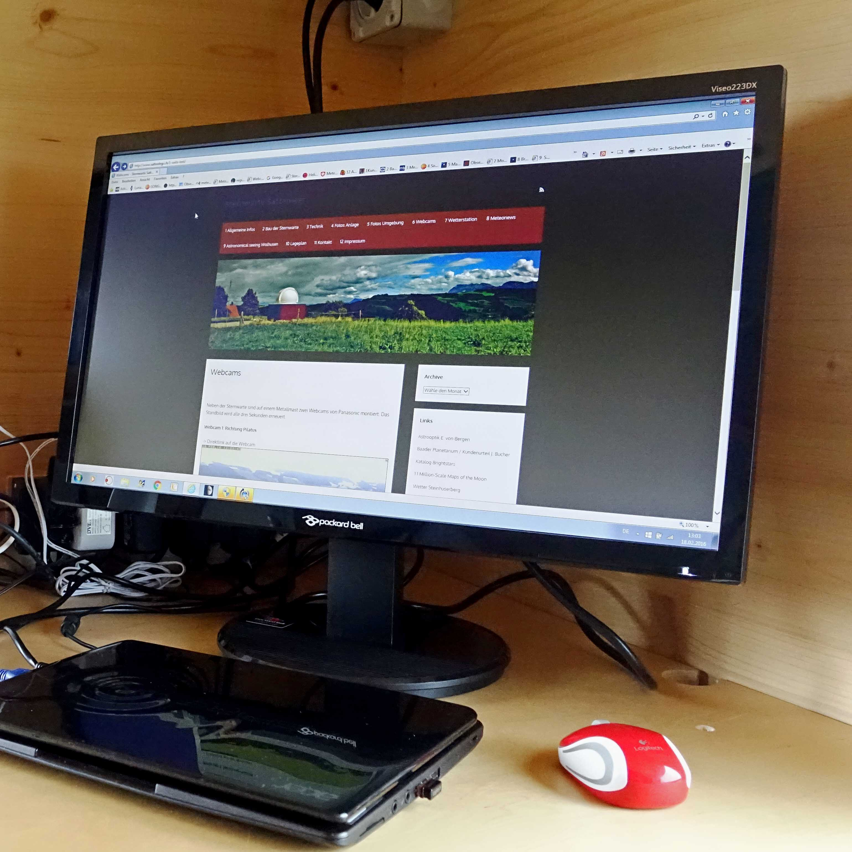 PC-Station mit Internetanschluss